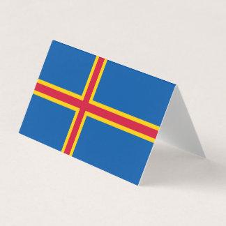 Aland Islands Flag Business Card