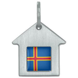 Aland Islands Flag Pet Name Tag