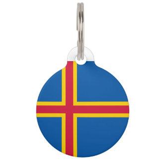 Aland Islands Flag Pet Tag