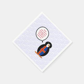 Aland Islands Holiday Mr. Penguin Paper Napkin