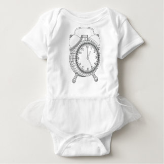alarm clock baby bodysuit
