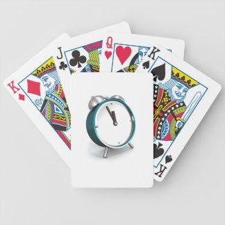Alarm clock bicycle playing cards
