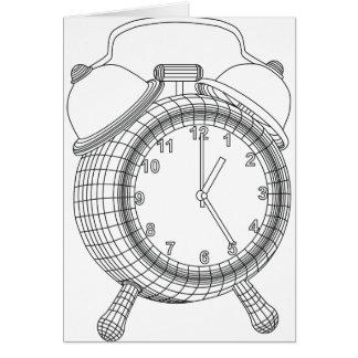 alarm clock card