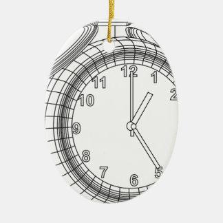 alarm clock ceramic ornament