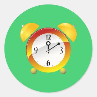 Alarm Clock Classic Round Sticker