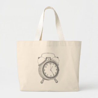 alarm clock large tote bag