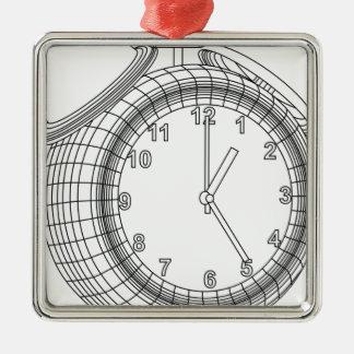 alarm clock metal ornament