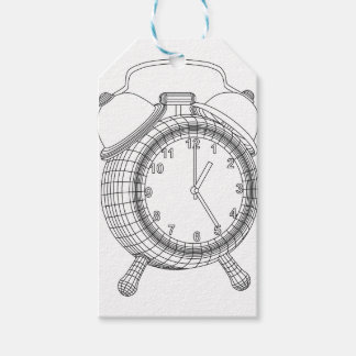 alarm clock pack of gift tags