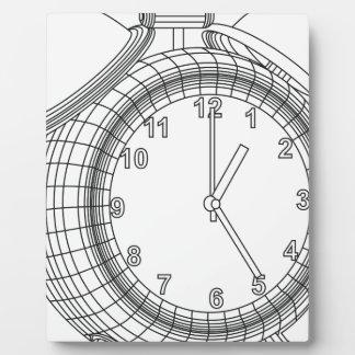 alarm clock plaque