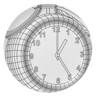 alarm clock plate