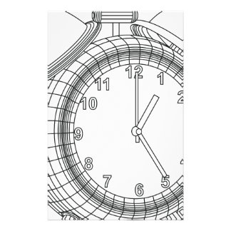 alarm clock stationery