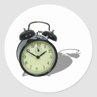 AlarmClock041109shadows Round Sticker