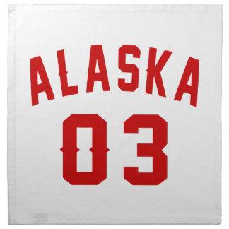Alaska 03 Birthday Designs Napkin