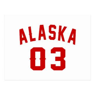 Alaska 03 Birthday Designs Postcard