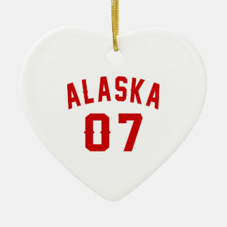 Alaska 07 Birthday Designs Ceramic Heart Ornament