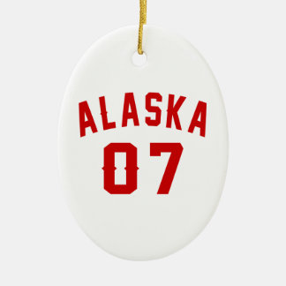 Alaska 07 Birthday Designs Ceramic Oval Ornament
