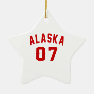 Alaska 07 Birthday Designs Ceramic Star Ornament