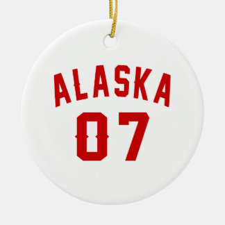 Alaska 07 Birthday Designs Round Ceramic Ornament
