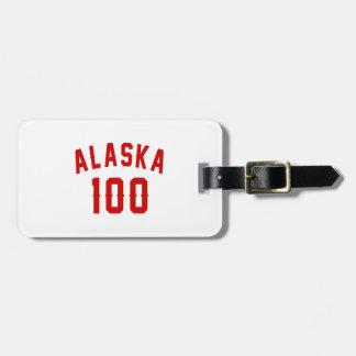 Alaska 100 Birthday Designs Luggage Tag