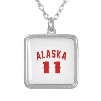 Alaska 11 Birthday Designs Silver Plated Necklace