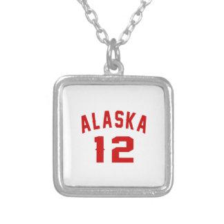Alaska 12 Birthday Designs Silver Plated Necklace