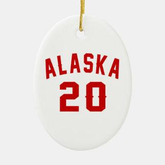 Alaska 20 Birthday Designs Ceramic Oval Ornament