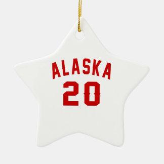 Alaska 20 Birthday Designs Ceramic Star Ornament
