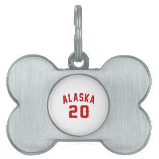 Alaska 20 Birthday Designs Pet ID Tag