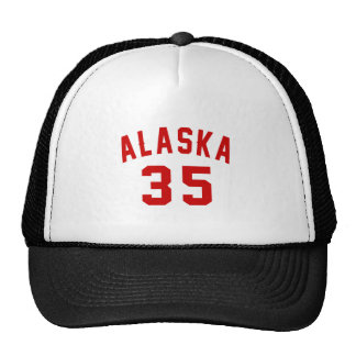 Alaska 35 Birthday Designs Trucker Hat