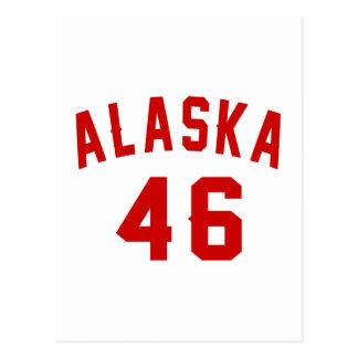 Alaska 46 Birthday Designs Postcard
