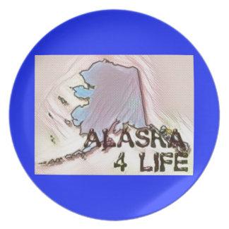"""Alaska 4 Life"" State Map Pride Design Plates"