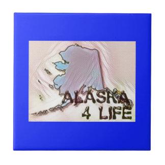 """""""Alaska 4 Life"""" State Map Pride Design Tile"""
