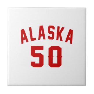 Alaska 50 Birthday Designs Tiles