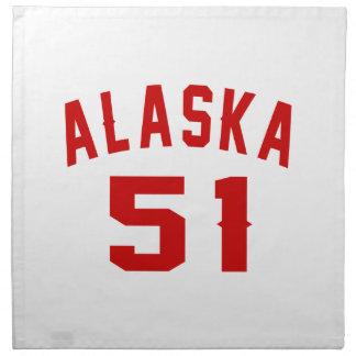 Alaska 51 Birthday Designs Napkins