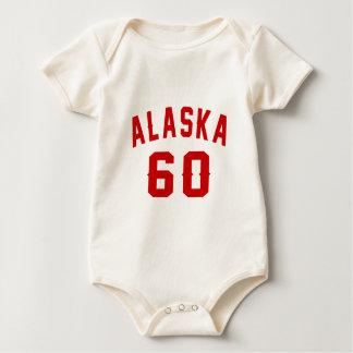 Alaska 60 Birthday Designs Baby Bodysuit