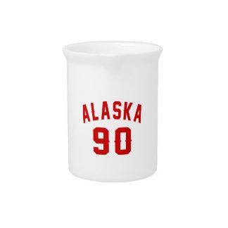 Alaska 90 Birthday Designs Drink Pitchers