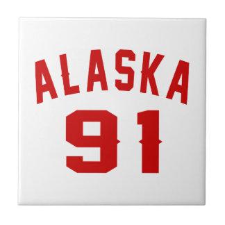 Alaska 91 Birthday Designs Ceramic Tiles