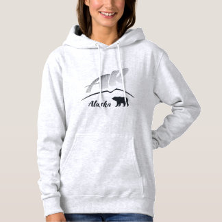 Alaska (AK) Kodiak brown bear - Black Logo Hoodie