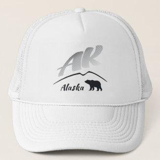 Alaska (AK) Kodiak brown bear - Black Logo Trucker Hat