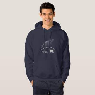 Alaska (AK) Kodiak brown bear - White Logo Hoodie