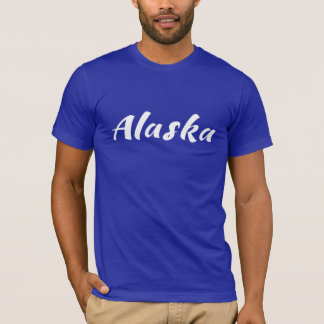 Alaska (AK) Kodiak brown bear - White Logo T-Shirt