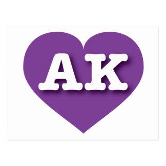 Alaska AK purple heart Postcard
