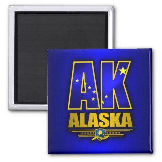 Alaska (AK) Square Magnet
