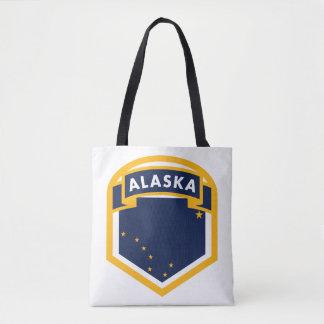 Alaska AK State Flag Crest Tote Bag