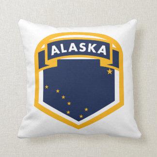 Alaska AK State Flag Shield Throw Pillow
