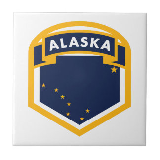 Alaska AK State Flag Shield Tile
