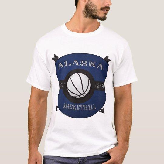 Alaska Basketball Shield Logo T-Shirt