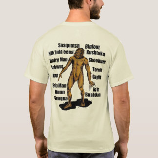 Alaska Bigfoot in Natural T-Shirt