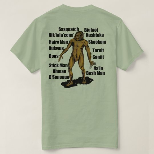Alaska Bigfoot in Sage T-Shirt