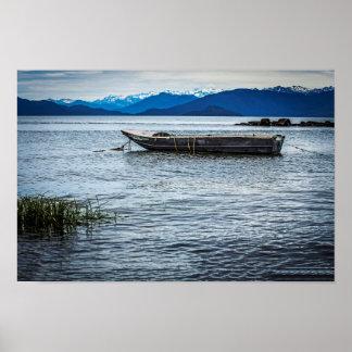 Alaska Boat Landscape Poster